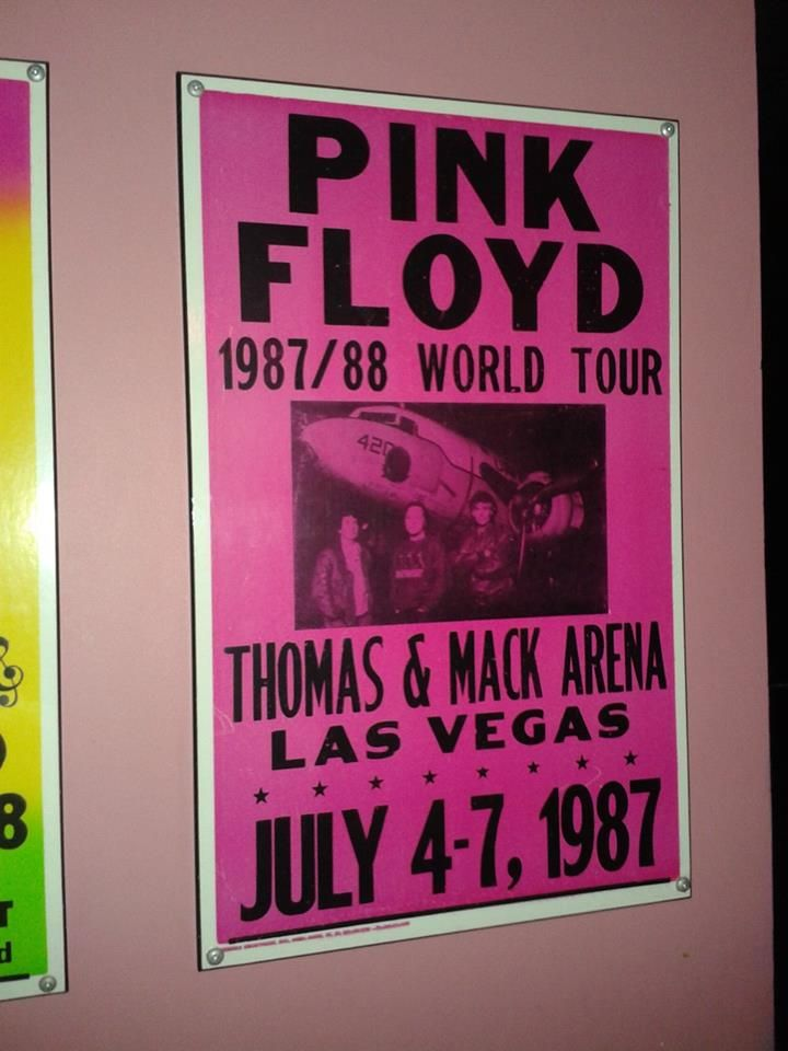 #Pink #Floyd concert sign in #Las #Vegas from #1987