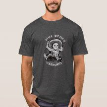 Viva Mexico Cabrones Black T-Shirt