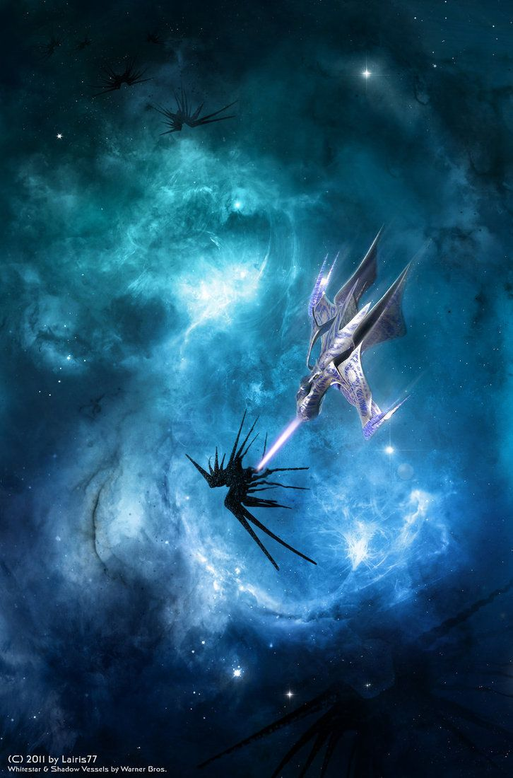 The White Star is, in my opinion, one of the most elegant and beautiful spaceships ever designed. And  I am in absolute awe of this painting. By Lairis77 on deviantART.