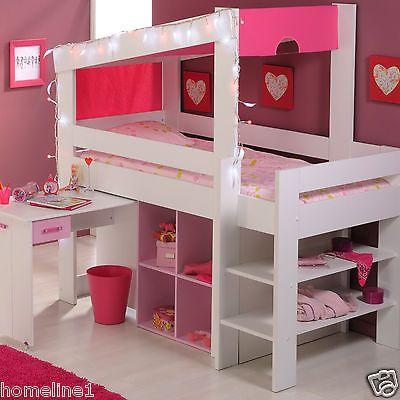 m dchen kinderbett hochbett funktionsbett rosa. Black Bedroom Furniture Sets. Home Design Ideas