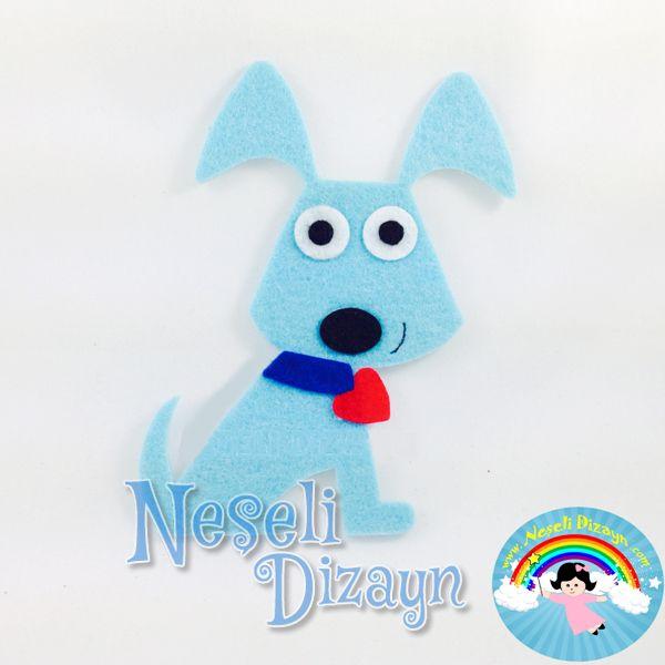 Neşeli Dizayn | Neşeli Büyük Köpek-Mavi