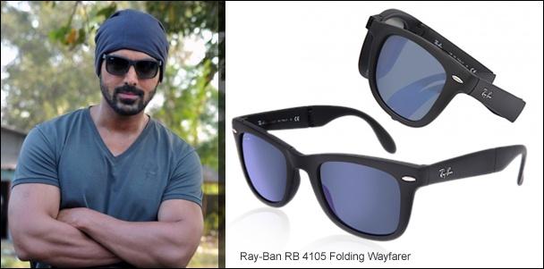 John Abraham sporting Ray-Ban Wayfarer Sunglasses