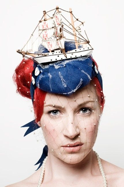 If you can carry off this naval-themed fascinator, then more power to you!