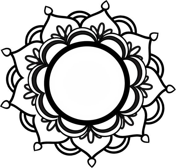 Monogram Mandala Svg Flower Tattoos Silhouette
