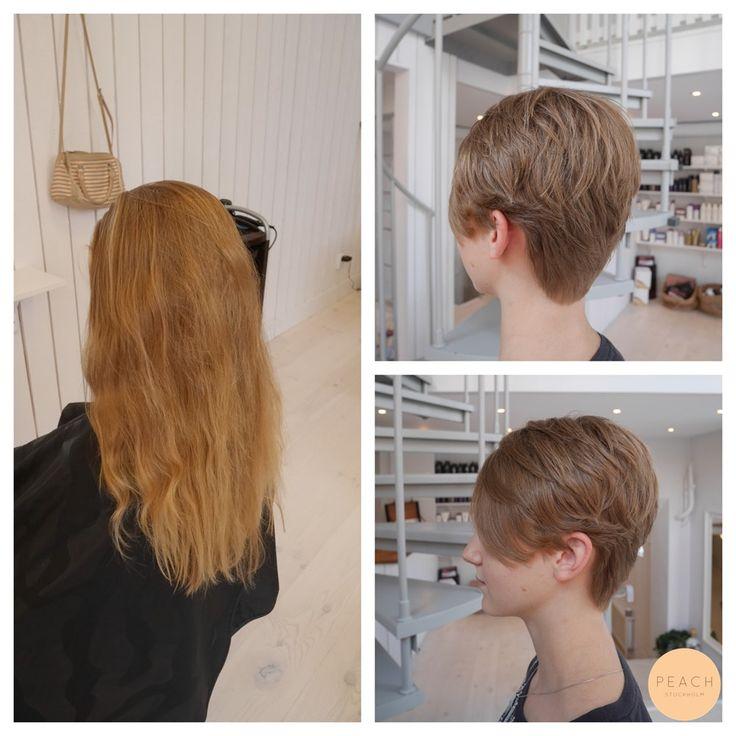 Från långt till kort hår