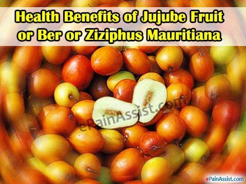 Health Benefits of Jujube Fruit or Ber or Ziziphus Mauritiana