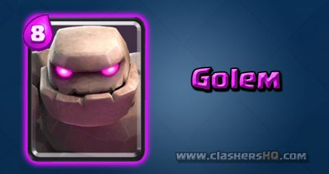 Find out all about the Clash Royale Golem Card. How to get Golem & attack/counter Golem effectively.