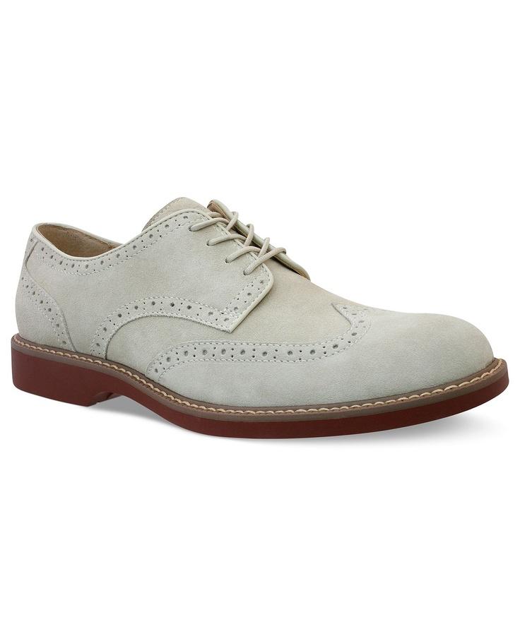 Bass Shoes, Pembroke Wing-Tip Lace-Up Shoes - Mens Shoes