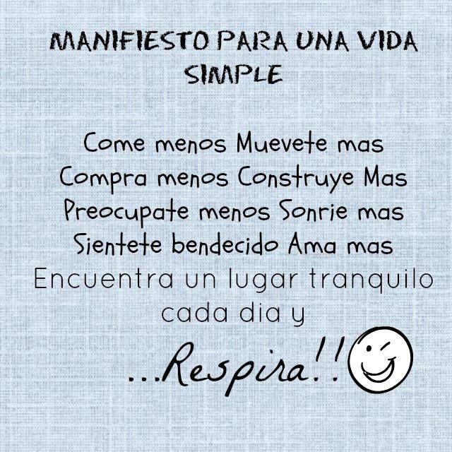 Manifiesto para una vida simple.
