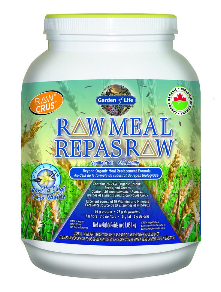 Garden Of Life Raw Meal Vanilla Chai, 1.051kg   Sunrise Health Foods