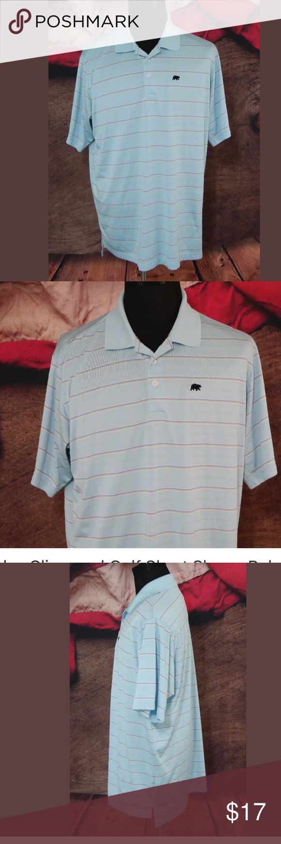"""Adidas Climacool Golf Polo Shirt Blue Striped XL Pre-Owned in Excellent Condition Adidas Climacool Golf Short Sleeve Polo Shirt Blue Striped Mens XL EUC  Size: XL  Material: 100% Polyester  Color: Blue Stripped with Yellow and White  Measurements: Chest: 24"""" / Sleeve: 11"""" / Shoulders: 20"""" / Length: 32"""" adidas Shirts Polos"""
