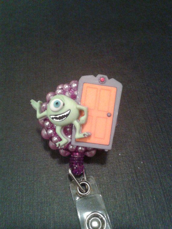 Mike Wazowski Monsters Inc. ID Badge RN Reel Holder or Pen