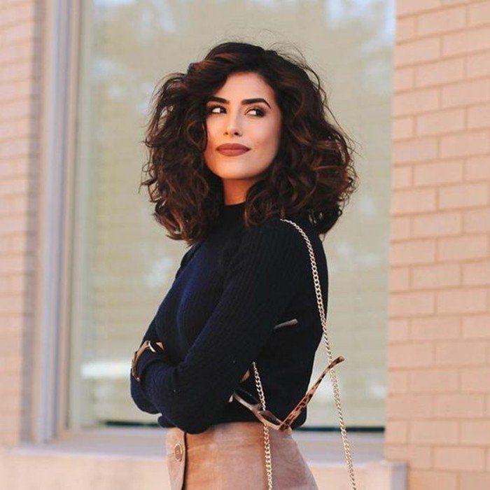 Fabulous Les 25 meilleures idées de la catégorie Cheveux mi long boucles  SC17