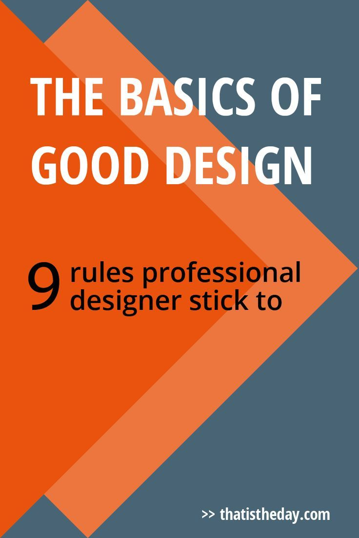 The Basics of Good Design