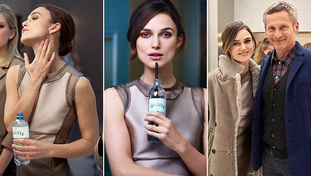 Keira Knightley for the campaign of Austrian water Vöslauer