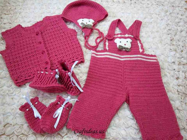 crchet baby overalls - I love this set but I am no good ...