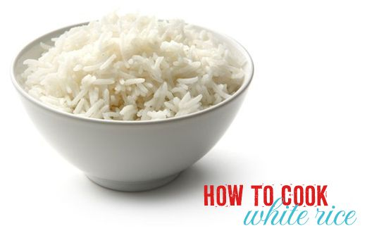 how to cook white rice - I always mess it up when I need it.  This has become my go to way for perfect white rice every time.  Sometimes I add a little onion, use chicken broth instead of water and 1 tsp of tumeric for yellow rice.