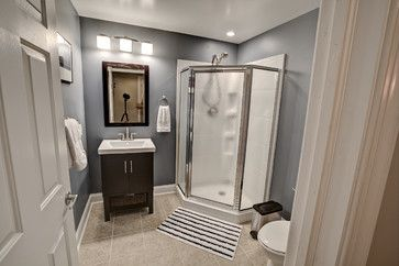 Maximize Your Bathroom Space - A corner shower stall maximizes bathroom space