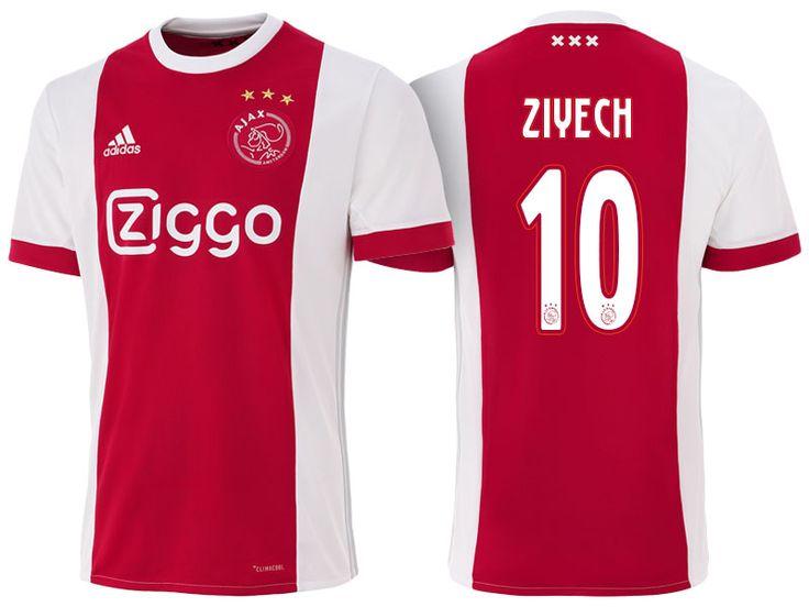 Ajax #10 Hakim Ziyech 17-18 Home Short Shirt