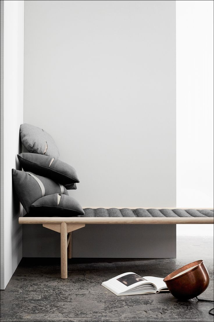 Beautiful Day Bed from Menu and designed by Anita Johansen. Use in the entryway, the living room, or the bedroom. Available in two different colours.