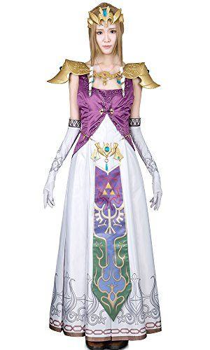 Miccostumes Women's the Legend of Zelda Princess Zelda Cosplay Costume (Xs) -- Check it out! Amazon Affiliate Program's Ads.