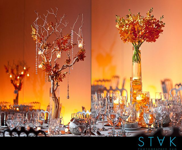 Floral Crystal Wedding Centerpieces at Espace NY by STAK Photographer Duo, via Flickr