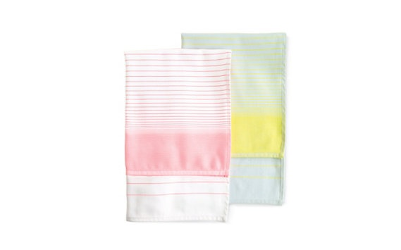 neon striped tea towels from Design Within Reach