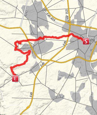 Karte / Jakobsweg: Via Regia von Leipzig nach Naumburg