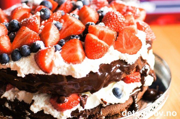 Sommerlig sjokoladefestkake | Det søte liv