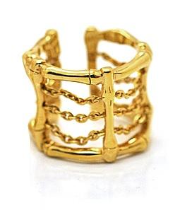 Gold Bamboo ring, Babette Wasserman, Caratime.com