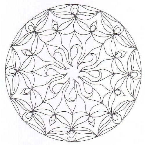 Meditation mandala to color the image for Mandala meditation coloring pages