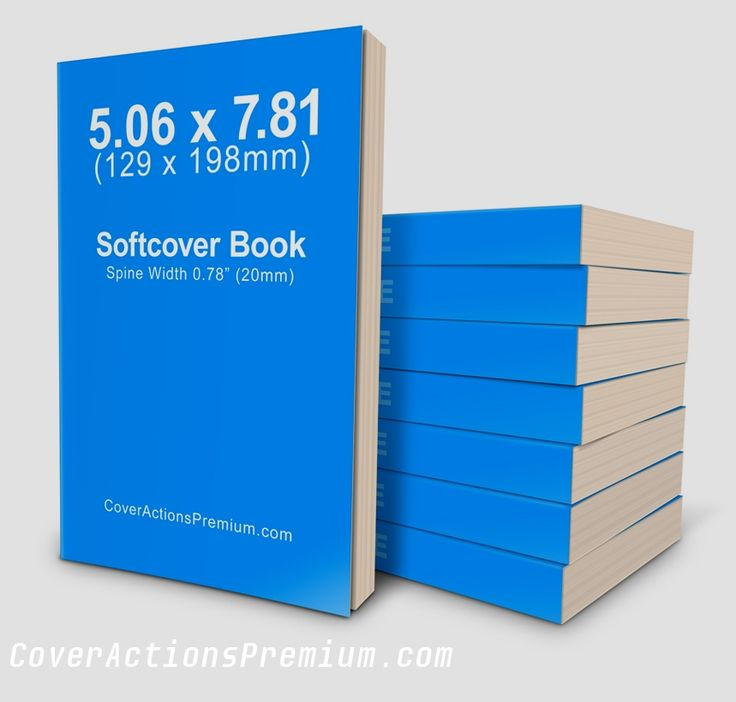 B Format 129 x 1989mm Softcover Book Mockup
