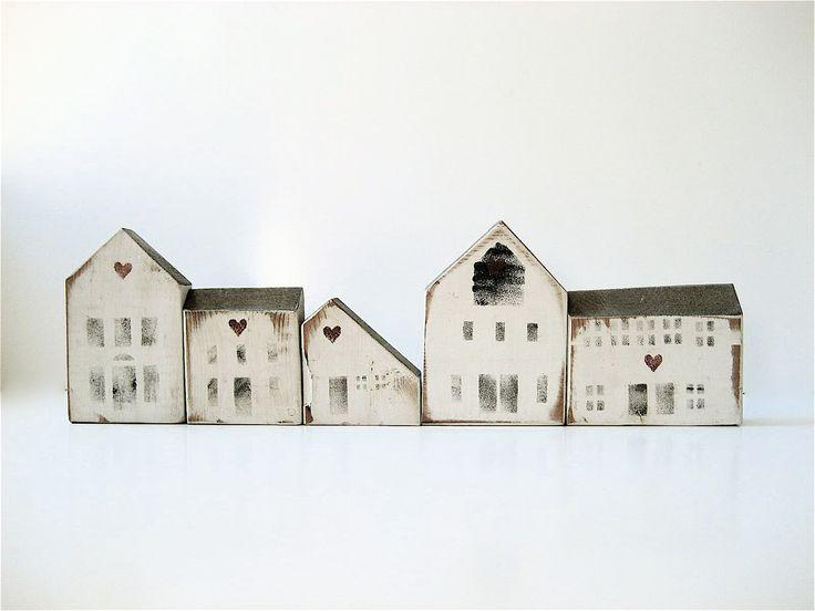 Wooden House Blocks