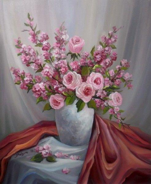 Inocenta in roz. Tablou de Anca Bulgaru