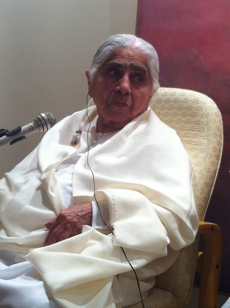 Dadi Janki, embodiment of Love, Compassion and Caring.  Advocates Patience, Tolerance and Contentment