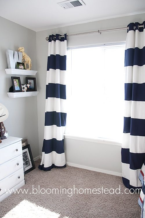Striped Curtains {How To