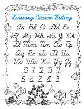 A great resource for students to follow with both upper and lower case letters in cursive. Can also be placed in a sheet protector and used with dry erase markers for extra writing practice or a classroom center.