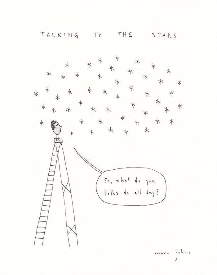 talking to the stars - Signed Print