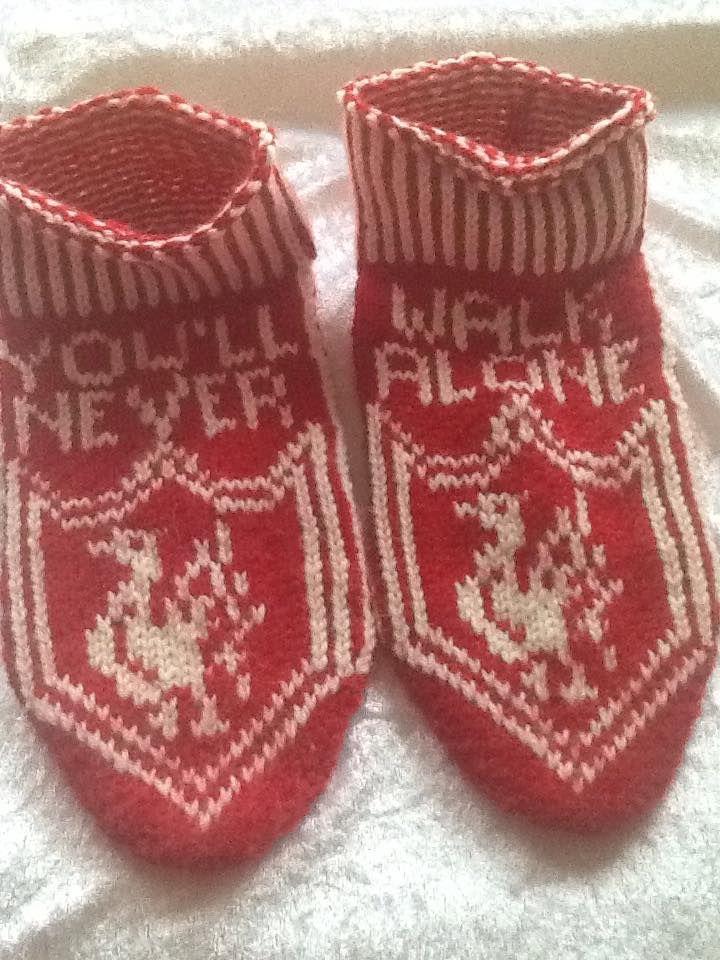 Liverpool sokkasiner. Pattern made after a mittenpattern.