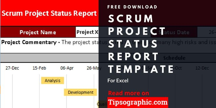 Download here the ultimate SCRUM PROJECT STATUS REPORT template, part of 18 agile project management templates for Excel. FREE!