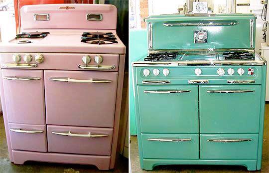 retro stoves: Vintage Appliances, Vintage Stoves, Mint Green, Vintage Kitchens, Color, Retro Kitchens Appliances, Vintage Wardrobe, Aqua, Gas Stoves