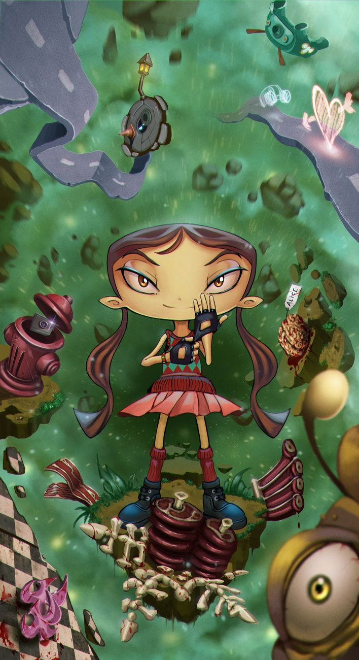 draw-till-death-tmb:  She's Lili from one of my favorite platform games ever. Psychonauts. ———- ©Artwork / Draw-till-death ©Psychonauts /Lili / Double Fine Productions  Deviantart | Pixiv