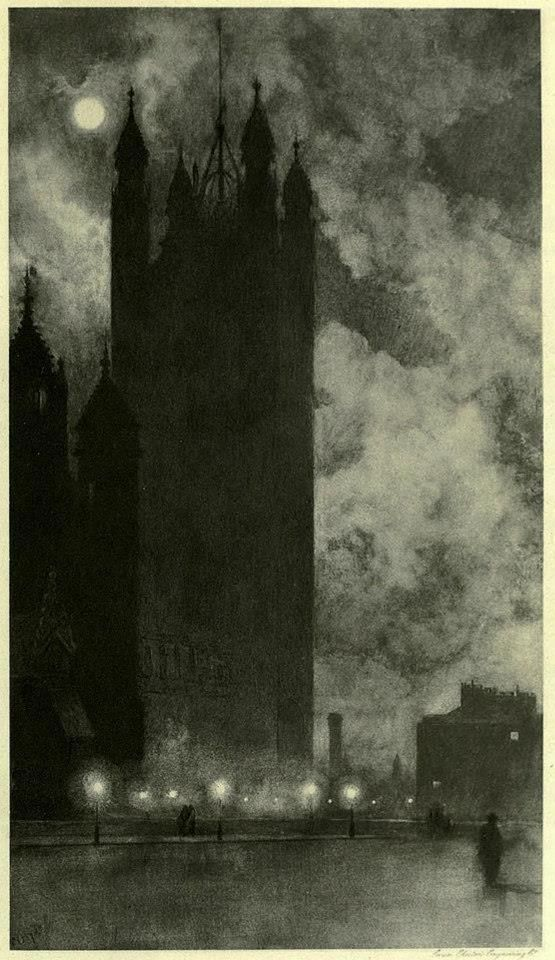 Victoria Tower in Westminster, London, 1898, by William Hyde