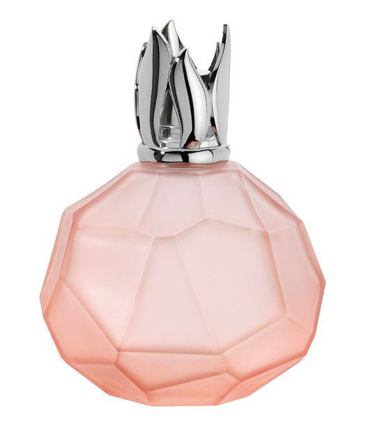 Cristal de roche corail. ne lampe en verre d'inspiration minérale.