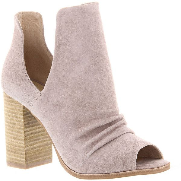 Kristin Cavallari By Chinese Laundry Lash Women's Grey Boot 9.5 M ($160) ❤ liked on Polyvore featuring shoes, boots, ankle booties, grey, suede booties, grey suede bootie, high heel ankle boots, high heel booties and gray suede booties