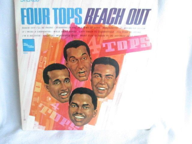 """Four Tops Reach Out 12"""" LP Stereo Tamla Motown MS 660 Canada 1967 VG+ FAST SHIP #Soul"""