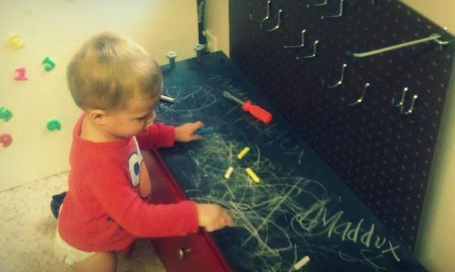 The Undone Blog: DIY play workbench
