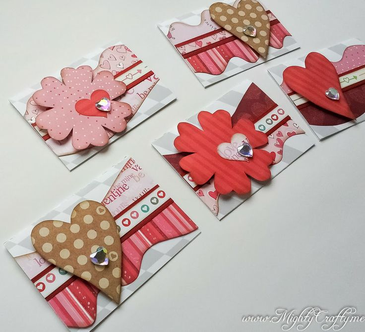Valentine's Day Card Set with Kiwi Lane Templates -- www.MightyCrafty.me
