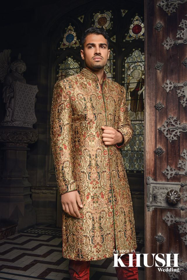 Intricate Mens shewani by Cuckoo Fashion​ GROOM STORE 210 Green Street, Forest Gate London, E7 8LE Tel: +44(0)20 8552 5922 NEW GROOM STORE 42 The Broadway Southall, UB1 1TA Tel: +44(0)20 8843 4809 enquiries@cuckoofashion.com www.cuckoofashion.com Location: Carlton Towers