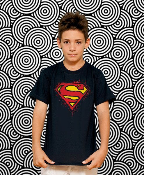 Superman Kids TShirt Kids Gift Son Gift Young Boys by store365